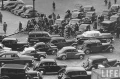 paris, bouchon, périphérique, limitation de vitesse, 70km/h, life, 1951