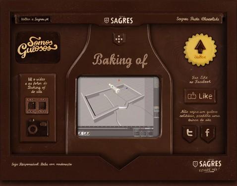 site chocolat, sagres, création web, artisanat, bière portuguaise, festif, jeune