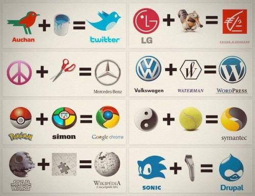 logos, mercedes,google chrome,drupal, auchan