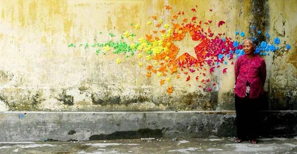 mademoiselle maurice, orignami,street art, populaire,artiste